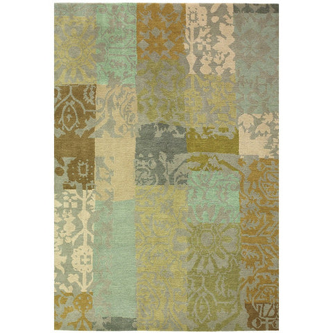 Brink & Campman Kodari Patchwork 94001 Hand Knotted Designer Wool Rug - Rugs Of Beauty