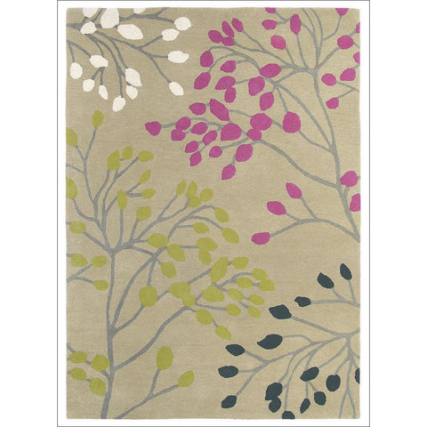 Sanderson Home Pippin Magenta Citrus 23802 Designer Wool Rug - Rugs Of Beauty