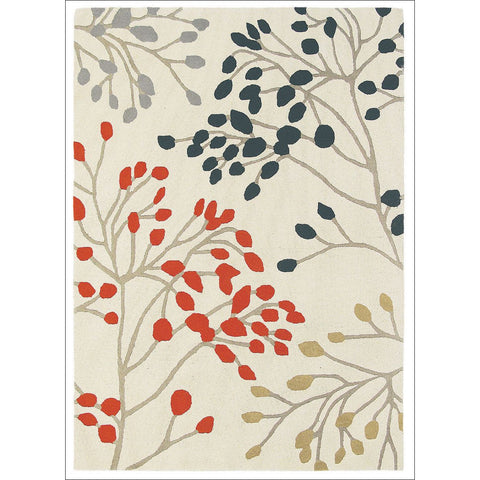 Sanderson Home Pippin Charcoal Coral 23803 Designer Rug - Rugs Of Beauty