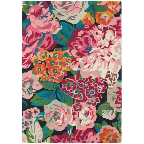 Sanderson Rose & Peony Cerise 45005 Designer Rug - Rugs Of Beauty - 1