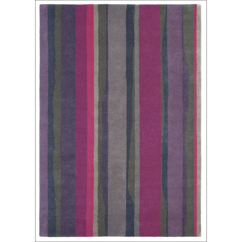 Sanderson Cressida Claret Plum 45105 Designer Wool Rug - Rugs Of Beauty - 1