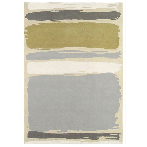 Sanderson Abstract Linden Silver 45401 Designer Rug - Rugs Of Beauty - 1