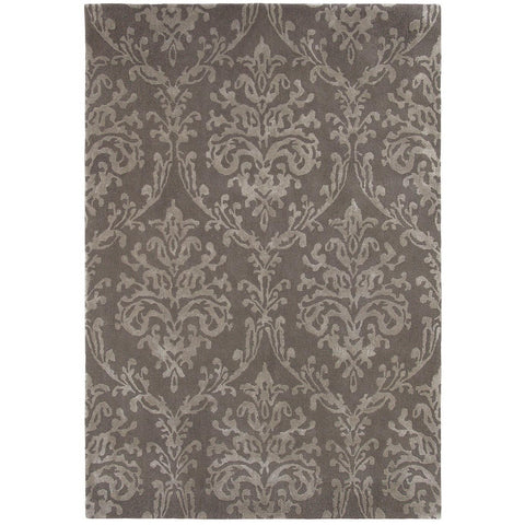 Sanderson Riverside Damask Mink 46700 Designer Wool / Viscose Rug - Rugs Of Beauty - 1