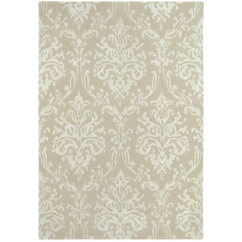 Sanderson Riverside Damask Parchment 46709 Designer Wool / Viscose Rug - Rugs Of Beauty - 1