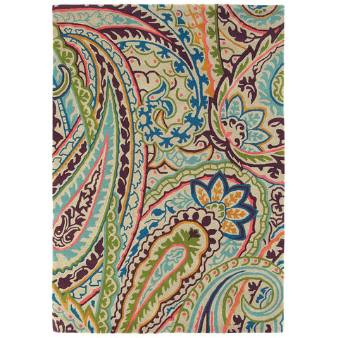 Sanderson Kashmir Spice 46905 Designer Wool / Viscose Rug - Rugs Of Beauty - 1
