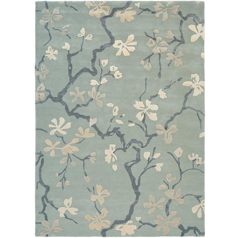 Sanderson Anthea 47107 Designer Wool / Viscose Rug - Rugs Of Beauty - 1