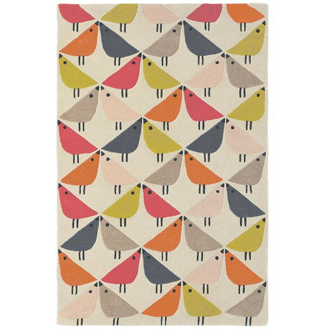 Scion Lintu Rhubarb 24402 Modern Designer Wool Rug - Rugs Of Beauty - 1