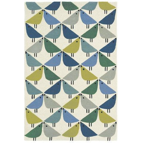 Scion Lintu Pacific 24408 Modern Designer Wool Rug - Rugs Of Beauty - 1