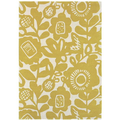 Scion Kukkia Honey 24506 Modern Designer Wool Rug - Rugs Of Beauty - 1
