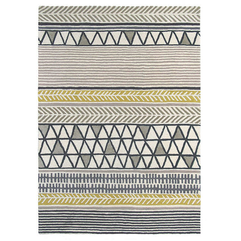 Scion Raita Taupe 24701 Modern Designer Wool Rug - Rugs Of Beauty - 1