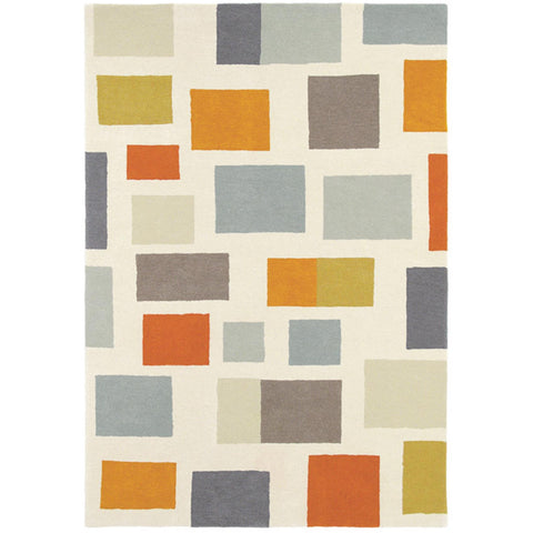 Scion Blocks Spice Modern Designer Area Rug - Rugs Of Beauty