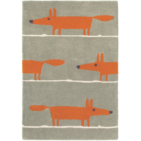 Scion Mr Fox Cinnamon Designer Wool Rug - Rugs Of Beauty