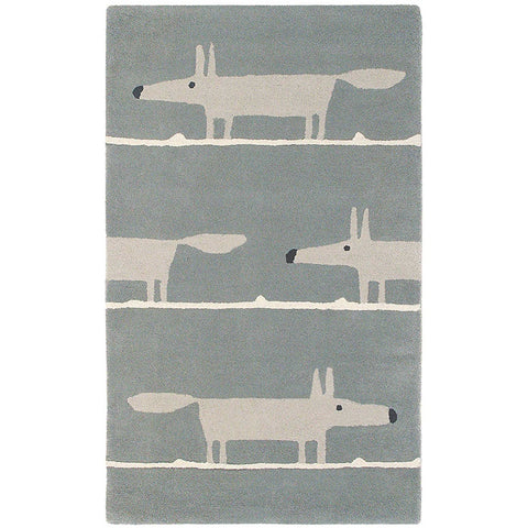 Scion Mr Fox Silver 25304 Modern Designer Wool Rug - Rugs Of Beauty - 1