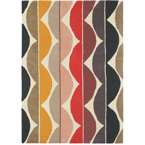 Scion Yoki Spice 25600 Modern Designer Wool Rug - Rugs Of Beauty - 1