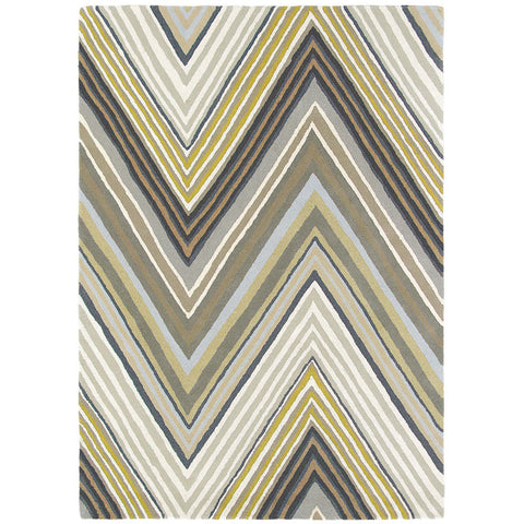 Scion Groove Pebble Chevron Patterned 25704 Modern Designer Wool Rug - Rugs Of Beauty - 1