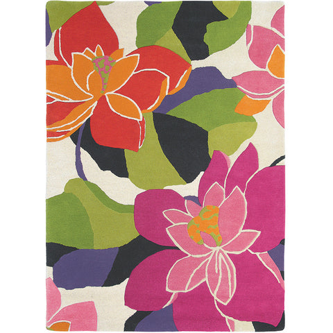 Scion Diva Peony Pure Wool Floral Handmade Rug - Rugs Of Beauty - 1