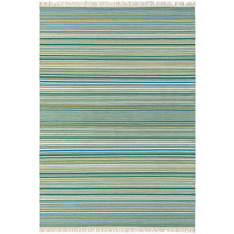 Scion Symmetry Kingfisher Striped 26607 Modern Designer Wool Rug - Rugs Of Beauty - 1