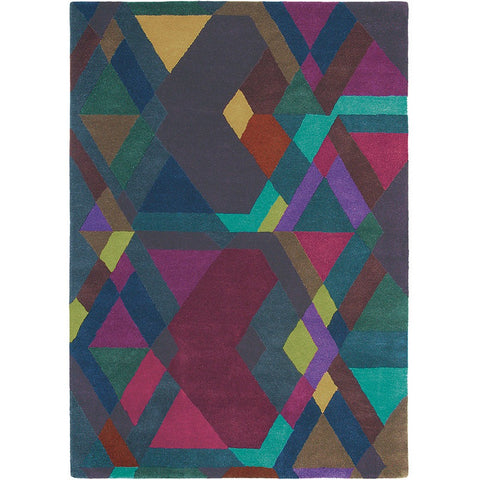 Ted Baker Mosaic 57607 Designer Geometric Wool Rug - Rugs Of Beauty