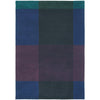 Ted Baker Plaid Navy 57808 Designer Wool Rug - Rugs Of Beauty