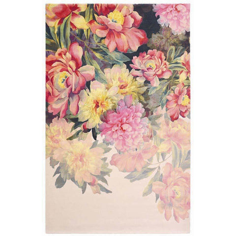 Ted Baker Maximil Pink 57902 Modern Floral Designer Rug - Rugs Of Beauty - 1