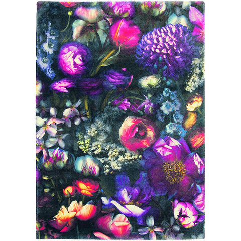 Ted Baker Shadow Floral 58005 Designer Wool / Tencel Rug - Rugs Of Beauty