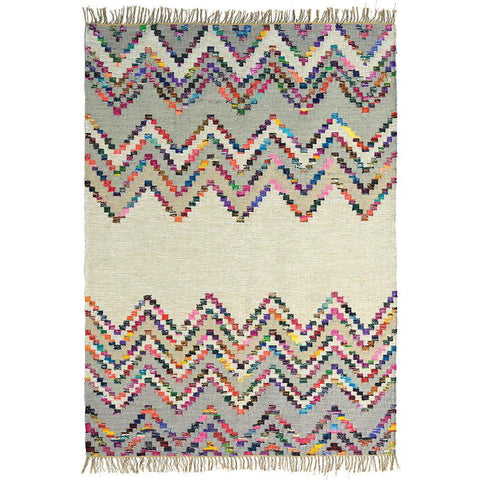 Brink & Campman Tika Savana 79501 Flatweave Designer Wool & Cotton Rug - Rugs Of Beauty