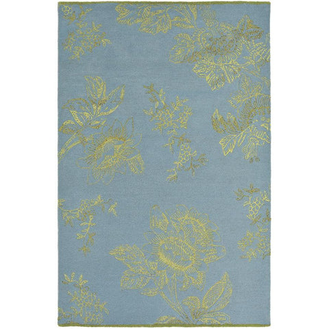 Wedgwood Tonquin Blue Designer Rug - Rugs Of Beauty - 1