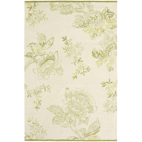 Wedgwood Tonquin Wool Viscose Cream Designer Rug - Rugs Of Beauty - 1
