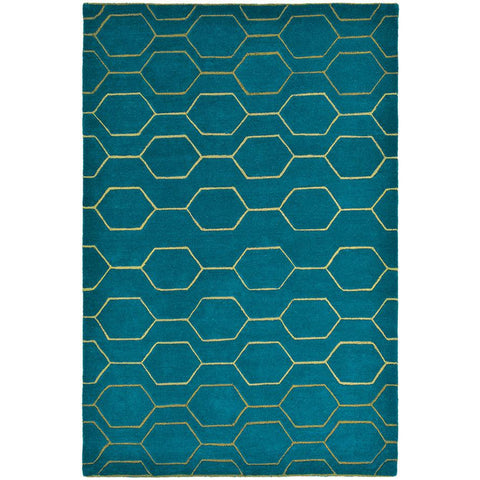 Wedgwood Arris Teal Designer Rug - Rugs Of Beauty - 1