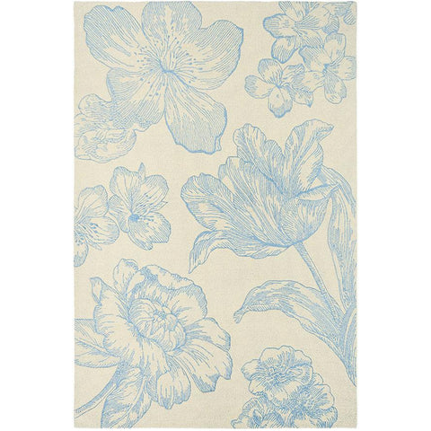 Wedgwood Vibrance Cream Designer Rug - Rugs Of Beauty - 1