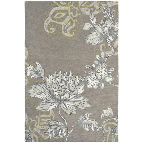 Wedgwood Fabled Floral Grey Designer Rug - Rugs Of Beauty