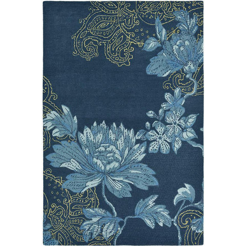 Wedgwood Fabled Floral Navy Designer Rug - Rugs Of Beauty - 1