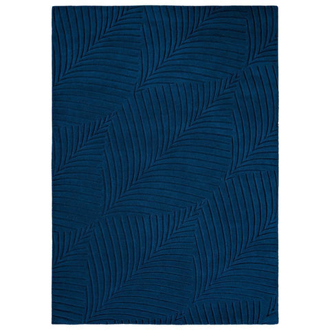 Wedgwood Folia Navy Blue 38308 Wool Designer Rug - Rugs Of Beauty - 1