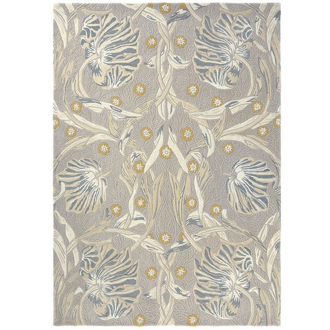 Morris & Co Pure Pimpernel Linen 028701 Designer Wool Viscose Rug - Rugs Of Beauty - 1