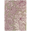 Morris & Co Chrysanthemum Wine Linen 27005 Designer Wool Rug - Rugs Of Beauty