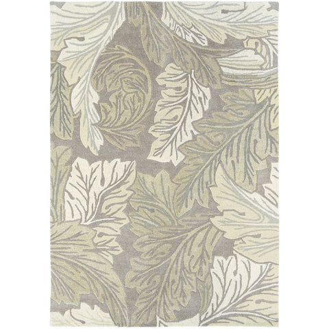 Morris & Co Acanthus Stone 27201 Designer Wool Rug - Rugs Of Beauty - 1