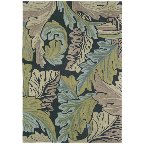 Morris & Co Acanthus Forest 27208 Designer Wool Rug - Rugs Of Beauty