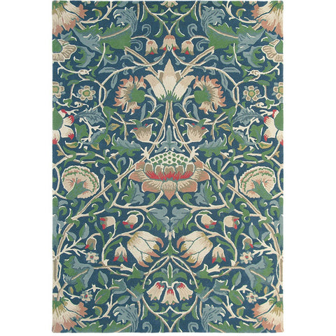 Morris & Co Lodden Indigo Mineral 27808 Designer Wool Rug - Rugs Of Beauty