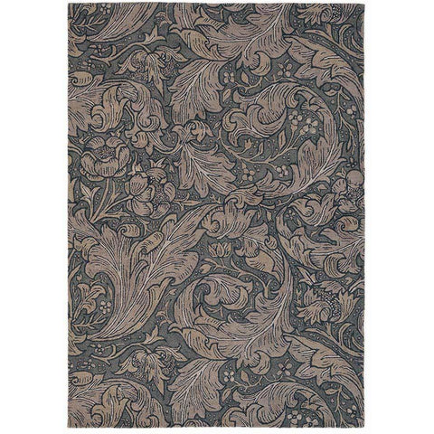 Morris & Co Bachelors Button Charcoal Modern Designer Rug - Rugs Of Beauty - 1