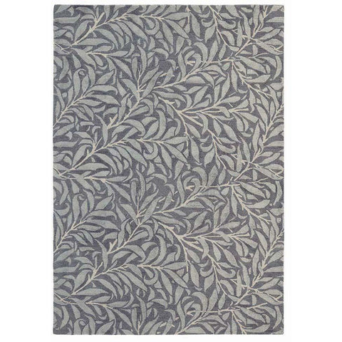 Morris & Co Willow Bough Granite 28305 Designer Wool Viscose Rug - Rugs Of Beauty - 1