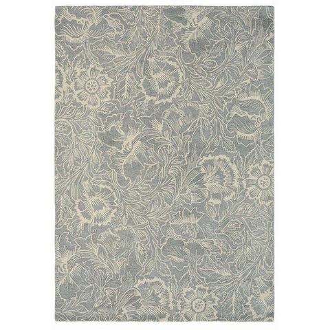 Morris & Co Poppy Dove 28404 Modern Designer Wool Rug - Rugs Of Beauty - 1