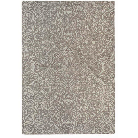 Morris & Co Ceiling Taupe 28501 Designer Wool Viscose Rug - Rugs Of Beauty - 1