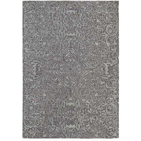 Morris & Co Ceiling Charcoal 28505 Designer Wool Viscose Rug - Rugs Of Beauty - 1