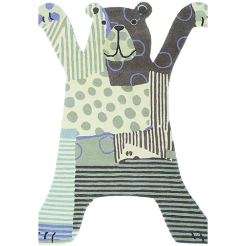 Brink & Campman Xian 41001 Kids Bear Grey Rug - Rugs Of Beauty