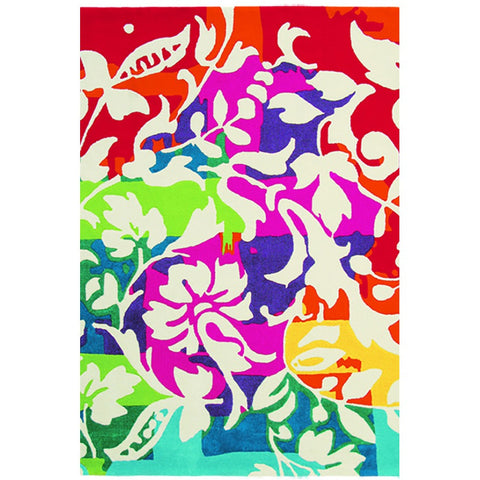 Brink & Campman Xian 73900 Orchid Modern Floral Designer Rug - Rugs Of Beauty