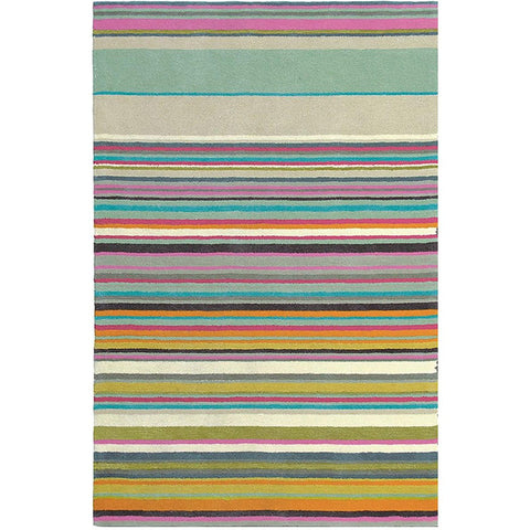 Brink & Campman Xian Fresh 76801 Striped Designer Rug - Rugs Of Beauty