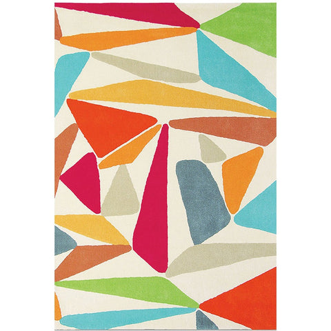 Brink & Campman Xian Triangle 77600 Modern Abstract Designer Area Rug - Rugs Of Beauty