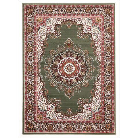 Traditional Pattern Medallion Rug Green - Rugs Of Beauty