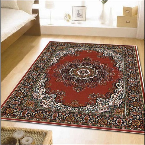 Traditional Pattern Medallion Rug Red - Rugs Of Beauty