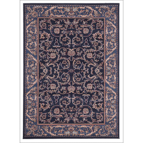 Classic Pattern Navy Blue Rug - Rugs Of Beauty - 1